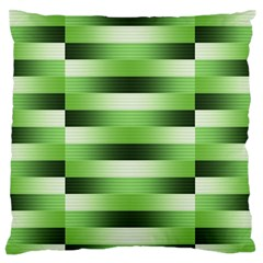 Pinstripes Green Shapes Shades Large Flano Cushion Case (two Sides)