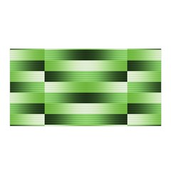 Pinstripes Green Shapes Shades Satin Wrap