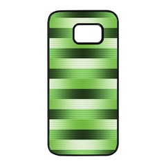 Pinstripes Green Shapes Shades Samsung Galaxy S7 Edge Black Seamless Case
