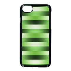 Pinstripes Green Shapes Shades Apple Iphone 8 Seamless Case (black) by Nexatart