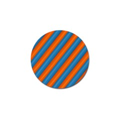 Diagonal Stripes Striped Lines Golf Ball Marker (4 Pack)
