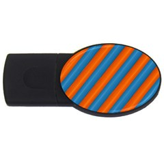 Diagonal Stripes Striped Lines Usb Flash Drive Oval (2 Gb)
