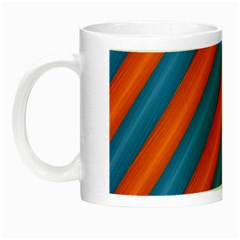 Diagonal Stripes Striped Lines Night Luminous Mugs