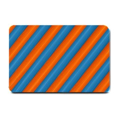 Diagonal Stripes Striped Lines Small Doormat