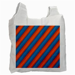 Diagonal Stripes Striped Lines Recycle Bag (two Side)