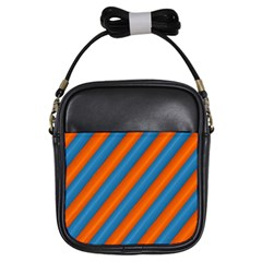 Diagonal Stripes Striped Lines Girls Sling Bags