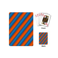 Diagonal Stripes Striped Lines Playing Cards (mini)