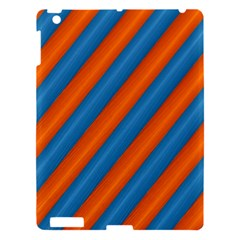 Diagonal Stripes Striped Lines Apple Ipad 3/4 Hardshell Case
