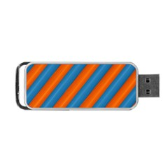 Diagonal Stripes Striped Lines Portable Usb Flash (one Side)