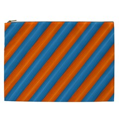 Diagonal Stripes Striped Lines Cosmetic Bag (xxl)