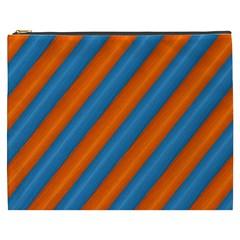 Diagonal Stripes Striped Lines Cosmetic Bag (xxxl)