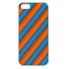 Diagonal Stripes Striped Lines Apple Seamless Iphone 5 Case (color)