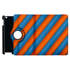 Diagonal Stripes Striped Lines Apple Ipad 2 Flip 360 Case