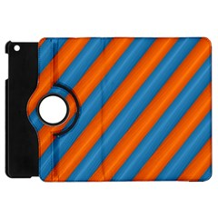 Diagonal Stripes Striped Lines Apple Ipad Mini Flip 360 Case