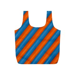 Diagonal Stripes Striped Lines Full Print Recycle Bags (s)