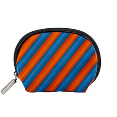 Diagonal Stripes Striped Lines Accessory Pouches (small)