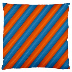 Diagonal Stripes Striped Lines Large Flano Cushion Case (two Sides)
