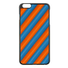 Diagonal Stripes Striped Lines Apple Iphone 6 Plus/6s Plus Black Enamel Case