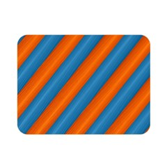 Diagonal Stripes Striped Lines Double Sided Flano Blanket (mini)