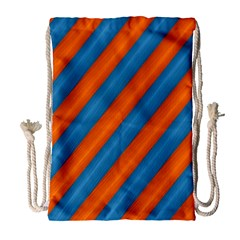 Diagonal Stripes Striped Lines Drawstring Bag (large)