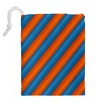 Diagonal Stripes Striped Lines Drawstring Pouches (Extra Large) Back