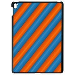 Diagonal Stripes Striped Lines Apple Ipad Pro 9 7   Black Seamless Case by Nexatart