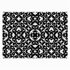 Black And White Geometric Pattern Large Glasses Cloth (2 Side) by dflcprints