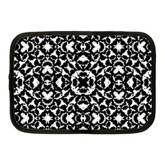 Black And White Geometric Pattern Netbook Case (medium)  by dflcprints