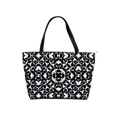 Black And White Geometric Pattern Shoulder Handbags by dflcprints