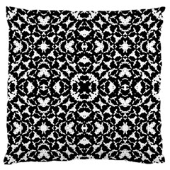 Black And White Geometric Pattern Large Flano Cushion Case (two Sides) by dflcprints