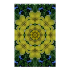 Fantasy Plumeria Decorative Real And Mandala Shower Curtain 48  X 72  (small)