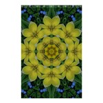 Fantasy Plumeria Decorative Real And Mandala Shower Curtain 48  x 72  (Small)  42.18 x64.8 Curtain