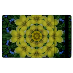 Fantasy Plumeria Decorative Real And Mandala Apple Ipad 3/4 Flip Case by pepitasart