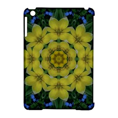 Fantasy Plumeria Decorative Real And Mandala Apple Ipad Mini Hardshell Case (compatible With Smart Cover)