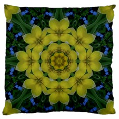 Fantasy Plumeria Decorative Real And Mandala Standard Flano Cushion Case (one Side)
