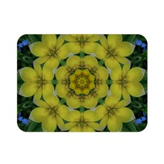 Fantasy Plumeria Decorative Real And Mandala Double Sided Flano Blanket (mini)  by pepitasart