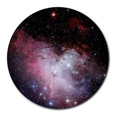 Nebula Round Mousepads by snowwhitegirl