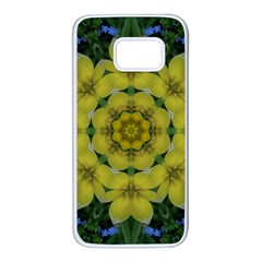 Fantasy Plumeria Decorative Real And Mandala Samsung Galaxy S7 White Seamless Case by pepitasart