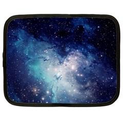 Nebula Blue Netbook Case (xl)  by snowwhitegirl