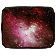 Nebula Red Netbook Case (large) by snowwhitegirl