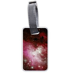 Nebula Red Luggage Tags (one Side)  by snowwhitegirl