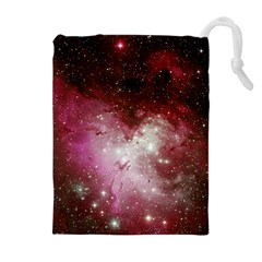 Nebula Red Drawstring Pouches (extra Large)