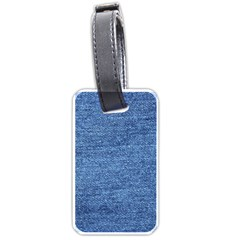 Blue Denim Luggage Tags (one Side)  by snowwhitegirl