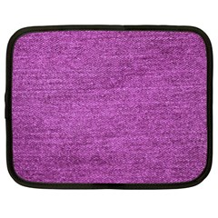 Purple Denim Netbook Case (xl)  by snowwhitegirl