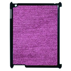 Purple Denim Apple Ipad 2 Case (black) by snowwhitegirl