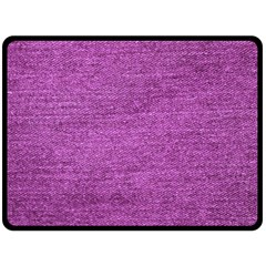 Purple Denim Double Sided Fleece Blanket (large)  by snowwhitegirl
