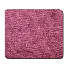 Pink  Denim Large Mousepads by snowwhitegirl