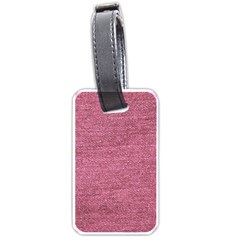 Pink  Denim Luggage Tags (one Side)  by snowwhitegirl