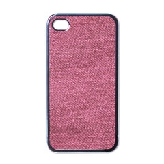 Pink  Denim Apple Iphone 4 Case (black) by snowwhitegirl