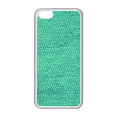 Green Denim Apple Iphone 5c Seamless Case (white) by snowwhitegirl
